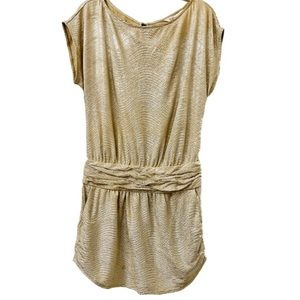 Bcbgeneration Gold Metallic Evening Dress Sise 2